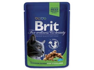 BRIT Premium Cat Chicken Slices for Sterilised kapsička (100g)