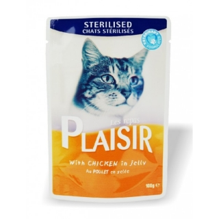 Plaisir cat sterilised kuřecí kapsička (100g)